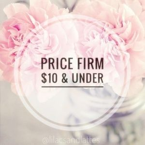 Prices Firm $10 & under